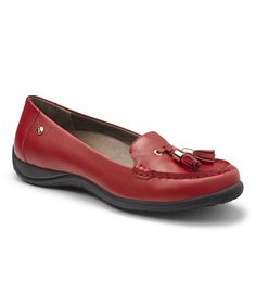 Loving this Red Abbie Leather Loafer on #zulily! #zulilyfinds