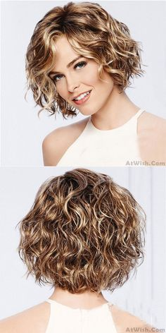 short curly hair styles New Brown Short Roll Mixed Fluffy COS Headgear Wave Ladies Hair Wig Short Permed Hair, Short Curly Hairstyles For Women, Curly Hair Styles, Curly Hair Cuts, Medium Hair Cuts, Bob Hairstyles For Fine Hair, Wig Hairstyles, Short Hair Cuts, Medium Hair Styles