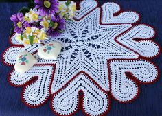 Beautiful heart doily