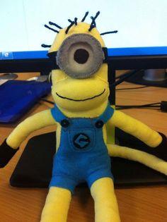 Minion Sock Monkey on Etsy, $20.67