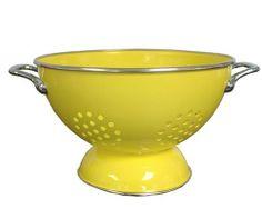 RESTON LLOYD Calypso Basics 5 Quart powder coated Colander Lemon $18.95 LOWEST PRICE GUARANTEE... CULINART KITCHEN STORES: www.shopculinart.com