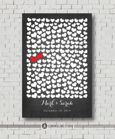 Unique Wedding Guest Book  Bridal Gift Poster by MarshmallowInkLLC, $40.00