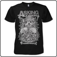 Asking Alexandria - Skull Stack - USA Import T-Shirt