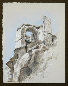Travel Drawing: Ibrahimpasa, Turkey Inktense and Prismacolor Pencil on Paper x 2016 Travel Drawing, Prismacolor, Mount Rushmore, Turkey, Pencil, Poses, Mountains, Drawings, Artwork