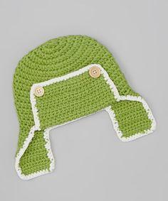 Look what I found on #zulily! Green Crochet Aviator Earflap Beanie #zulilyfinds