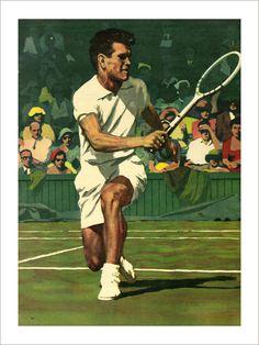 Tennisman - Affiche d'Art de la collection vintage de Slap!