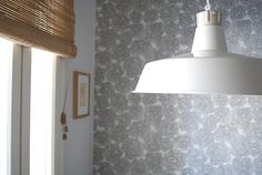 pendant light + wallpaper