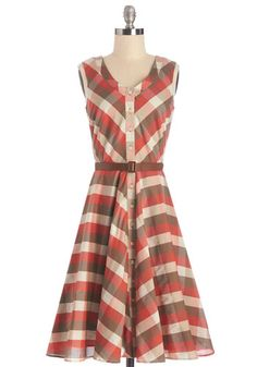 Retro 1960s Dress Plus Size: Plaid to See You Dress