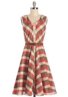 Plaid to See You Dress | Mod Retro Vintage Dresses | ModCloth.com