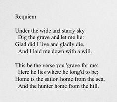 by Scottish novelist, poet, and travel writer Robert Louis (Balfour) Stevenson (1850-1894)