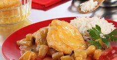 Pollo en salsa de piña