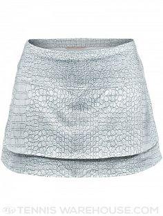 Lucky in Love Women's Birque Skirt - Silver Croc