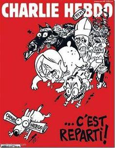 """París: Charlie Hebdo """"vuelve a empezar"""" con el Papa y un yihadista en su portada - http://www.leanoticias.com/2015/02/25/paris-charlie-hebdo-vuelve-a-empezar-con-el-papa-y-un-yihadista-en-su-portada/"""