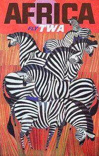 Safari Fusion blog | Africa vintage travel posters | Colourful African artwork for the wall