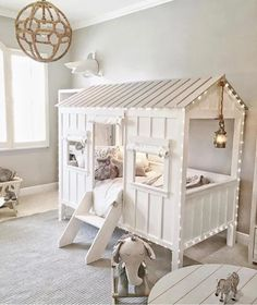 Toddler cabin bed, kids rooms, little boys rooms, toddler rooms, girl room Little Boys Rooms, Big Girl Rooms, Boy Room, Toddler Cabin Bed, Toddler Rooms, Kids Rooms, Cabin Beds For Kids, Baby Zimmer Ikea, Kids Decor