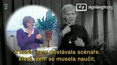 ČT  Televizní klub neslyšících  - Veteran TV interpreter Emílie Mrzílková talks about her work experience