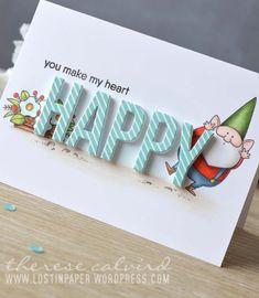 Lostinpaper MFT You Gnome Me / Pinstripes / Happy ? Because You