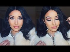 Rose Gold & Nude Winter Glam Tutorial - YouTube