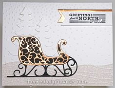 Heart's Delight Cards: Santa's Sleigh - Holiday Sneak Peek!