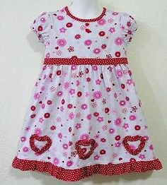 Hanna Andersson Secret Hearts Dress sz 100 3 4 5 Valentine Ruffle