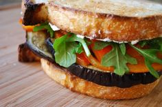 Eggplant and Goat Cheese Sandwiches | BetsyLife