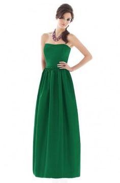 Green Full Length Bridesmaid Dress G265