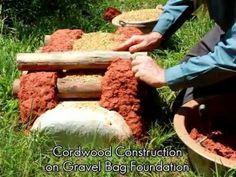 Cord wood, earth bag construction
