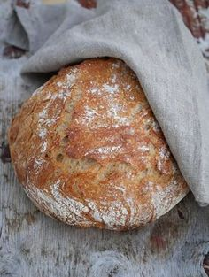 [kjøkkentjeneste]: Eltefritt brød med sammalt spelt og hvetemel