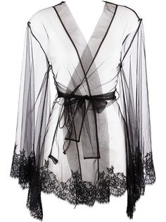 A sheer robe is a must have. This one is pretty but you might consider white or light pink especially for bridal boudoir.