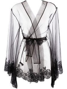 I.D.Sarrieri - lace trim dressing gown 3