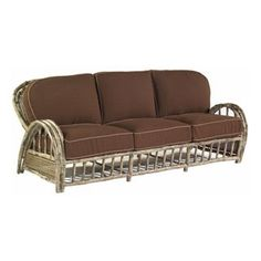 Check out the Woodard S545031 River Run Sofa in Antique Palm