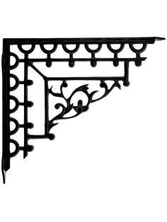 "Lace Pattern Cast Iron Shelf Bracket - 9"" x 10 1/8"" | House of Antique Hardware Wrought Iron Shelf Brackets, Cast Iron Shelf Brackets, Window Shelves, Gothic Home Decor, Antique Hardware, Gothic House, Kitchen Shelves, Vintage Decor, Window Toppers"