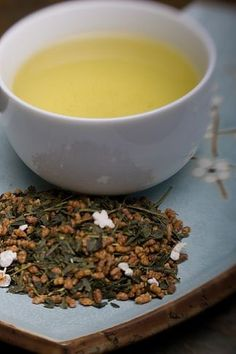 Japanese genmaicha tea, one of my favorites