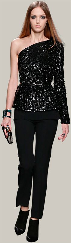 ELIE SAAB - Ready-to-Wear - Fall Winter 2014-2015...i need this top to get in my closet!  ;)