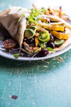 Grilled Zucchini Gyros with Sun-Dried Tomato Tzatziki | halfbakedharvest.com @hbharvest
