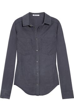 T BY ALEXANDER WANG  Chambray shirt  $200