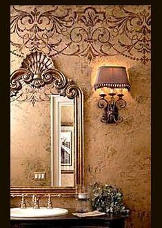 Chicago's Premier School of Decorative Arts: Faux Design Studio in Addison, IL - Wall treatment Tuscan Design, Tuscan Style, Design Studio, Decoration, Art Decor, Decor Ideas, Home Decor, Tuscan Bathroom Decor, Faux Walls