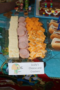 Jake and the Neverland Pirates Party - Scully Cheese and Crackers