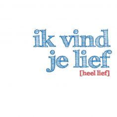 Vind je lief (© 2010 - 2012 WWW.NUMMERACHT.NL)