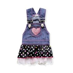 Popular High Quality Sweet & Cute Strap Denim Skirt just for her!