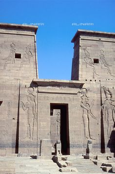 Egypt: archeological site on the island of Algikia-Philae, this particular temple is dedicated to the goddess Isis