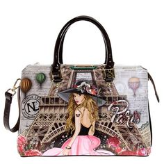Nicole Lee Handbags, France Eiffel Tower, I Love Paris, Painted Clothes, Luggage Sets, Stylish Girl, Evening Bags, Women's Accessories, Purses And Bags
