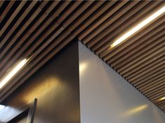 SOUND ABSORBING WOODEN CEILING TILES NODOO BY NODOO