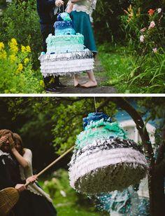 Piñata De Pastel Boda En Decoración Y Detalles Bodas Enlaces Exteriores E Wedding Pinatadiy