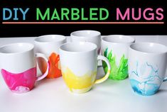 These Easy DIY Marbled Mugs Are Everything