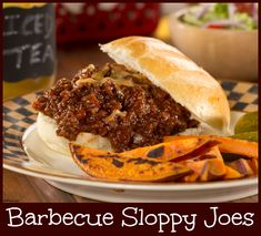 These aren't your mama's traditional sloppy Joe's. These Sloppy Joe's are made with your favorite bbq sauce and shredded Cheddar cheese, and they take less than 15 minutes to make!