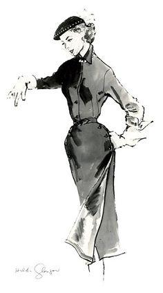 Toni c. 1944 Fashion Illustration