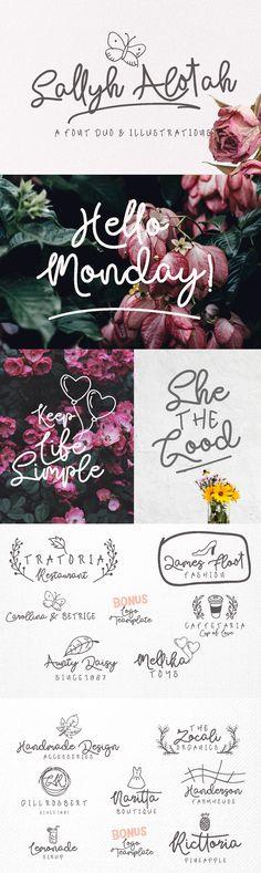 Sallyh Alotah - Sally Alotah is modern signature font, with modern signature style, this font will perfect ...
