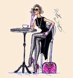 Hayden Williams Fashion Illustrations: Café Chic by Hayden Williams