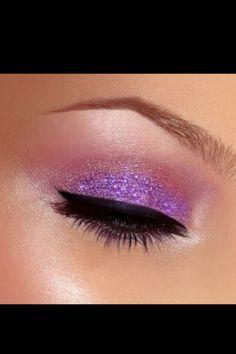Purple makeup.. Love it!